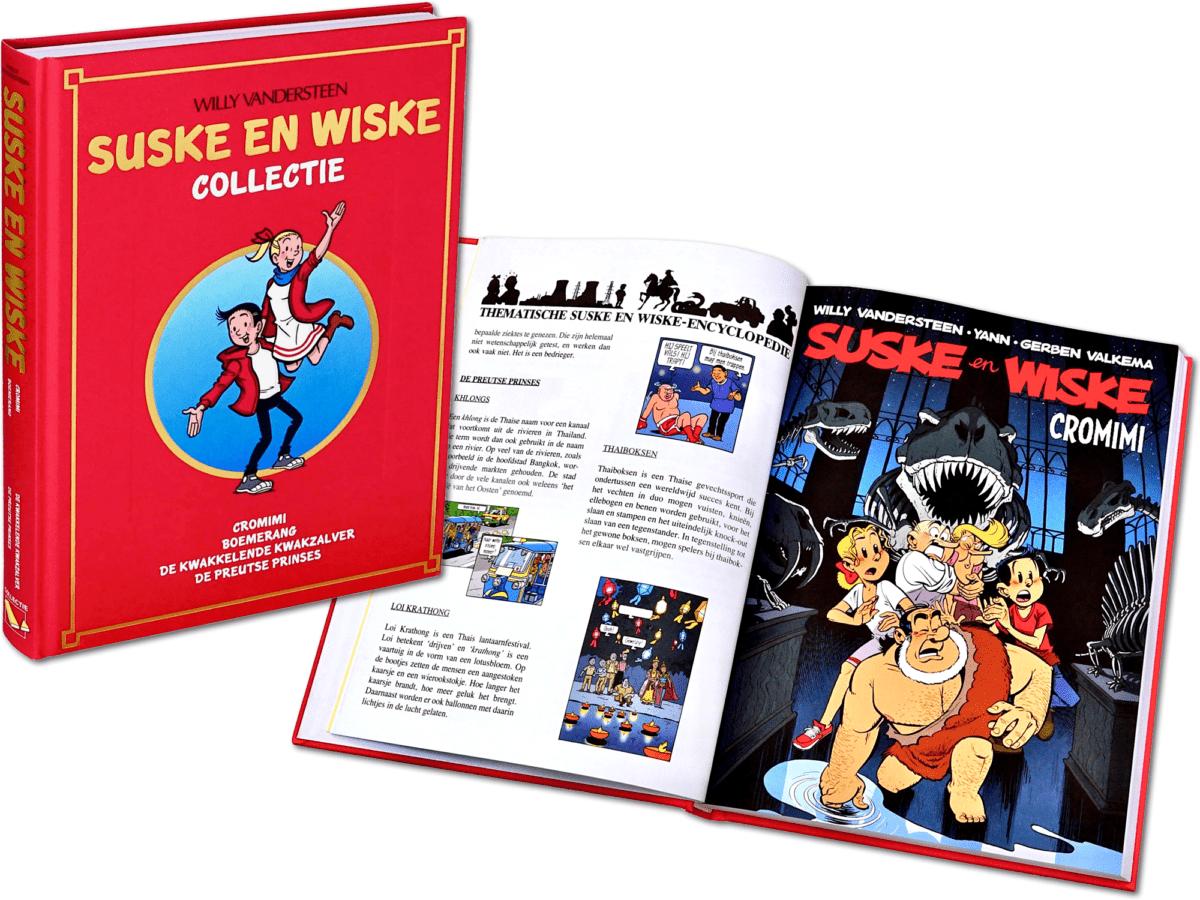 Suske & Wiske Verzamelalbums. 4 complete albums, ingebonden in luxe verzamelband met harde kaft. Jaarboek Lecturama. Standaard Uitgeverij. Willy Vandersteen.